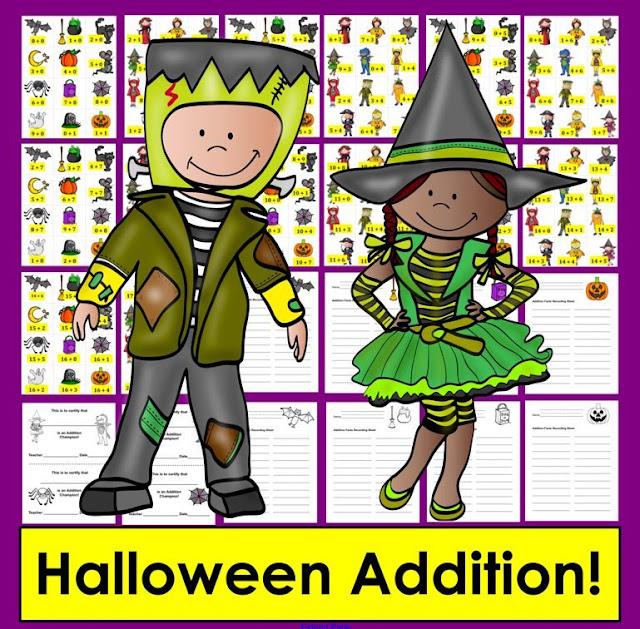 https://www.teacherspayteachers.com/Product/Halloween-Math-Addition-167-Addition-Facts-to-20-Differentiate-2171547