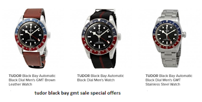 tudor bay black gmt watches
