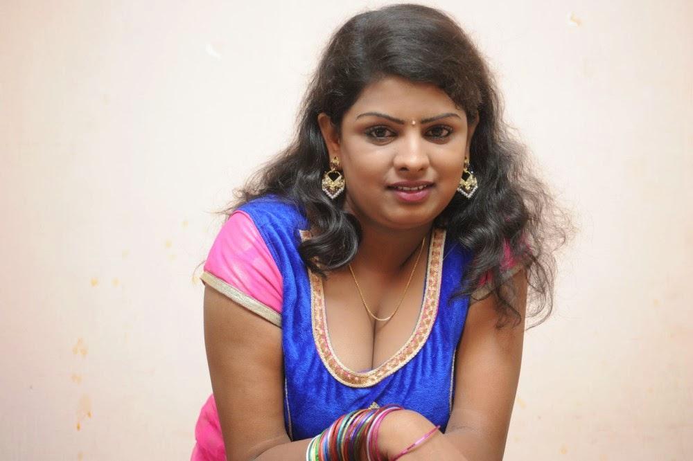 Telugu Actress Jyothi In Blue Salwar: Indian Actress Gallery
