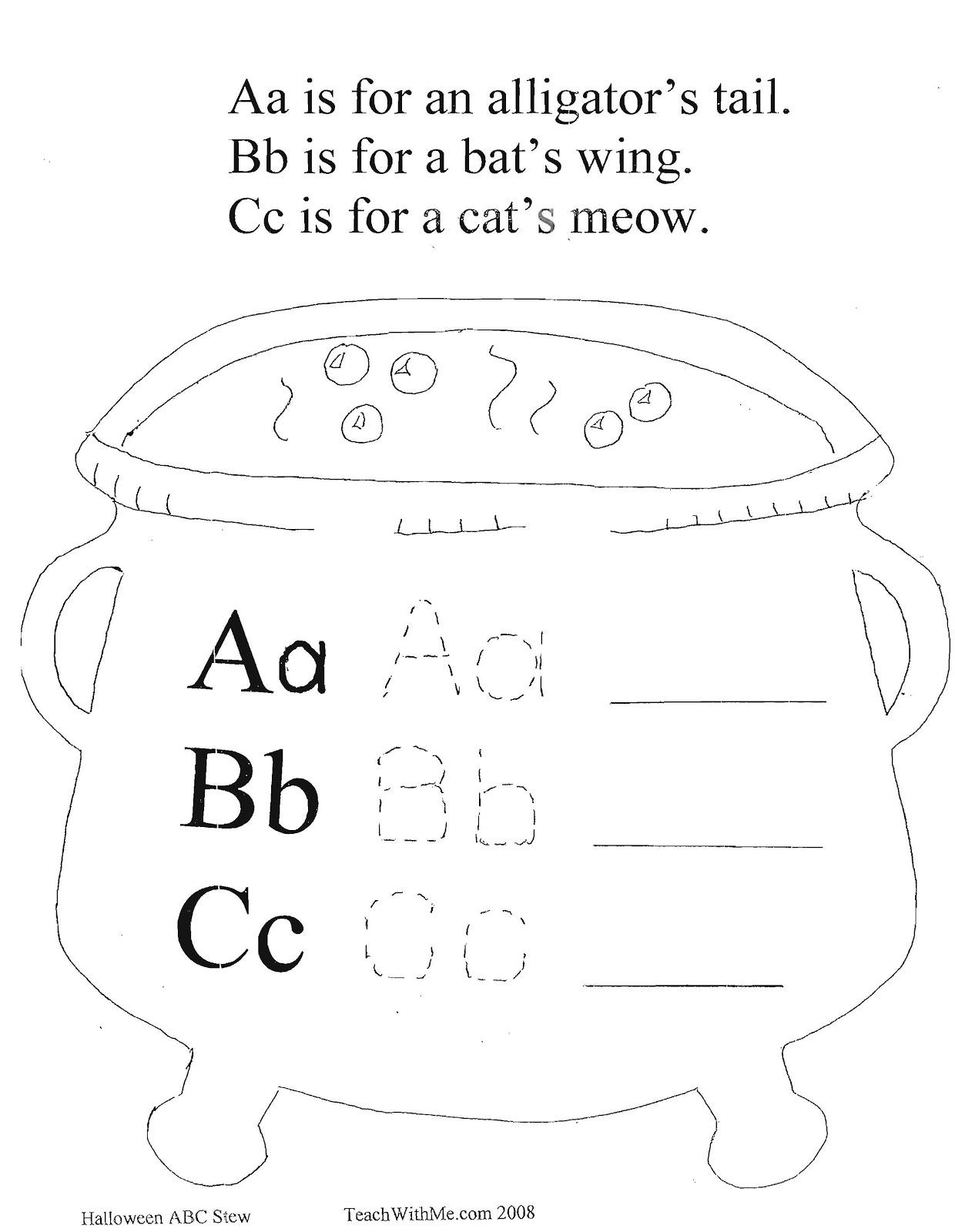 Classroom Freebies Halloween Alphabet Stew