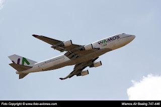 AVIÓN BOEING 747 EC-LNA