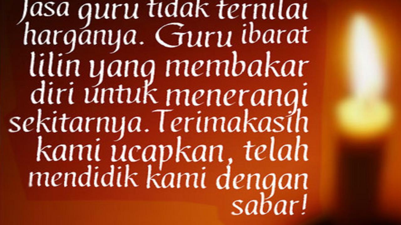 Kata Kata Mutiara Guru Kepada Murid