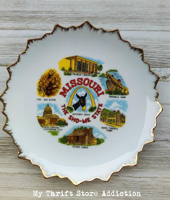 vintage Missouri souvenir plate
