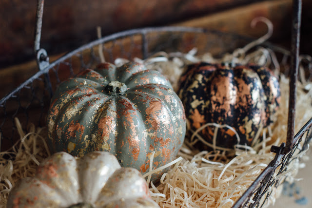 Sparkly Autumn Pumpkin Centerpiece