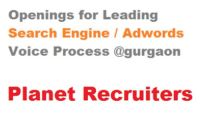 Openings for Leading Search Engine / Adwords Voice Process @gurgaon