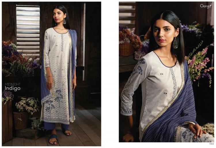caa3c52110 Zeels Creations: Midnight Indigo by Ganga Beautiful Cotton Suits ...