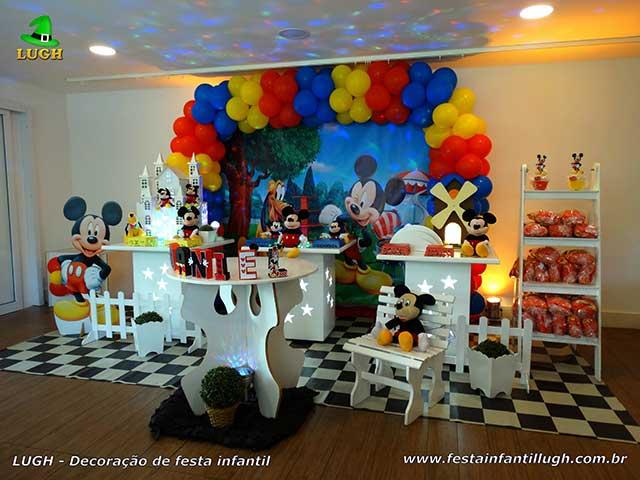 Decoração de festa infantil Mickey Mouse - Decoração provençal