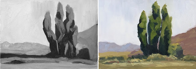 study in 4 values Feb-22-2019 grey and color