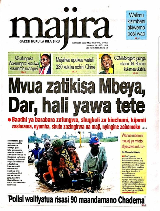 Tanzanian Today's Newspapers MAGAZETI YA LEO Tuesday 14th May, 2019