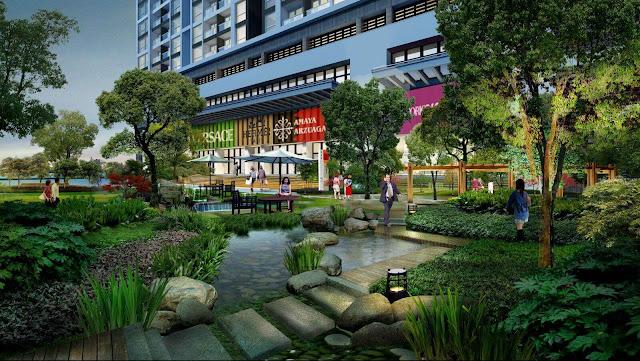 Vườn xanh tại Green Pearl Minh Khai
