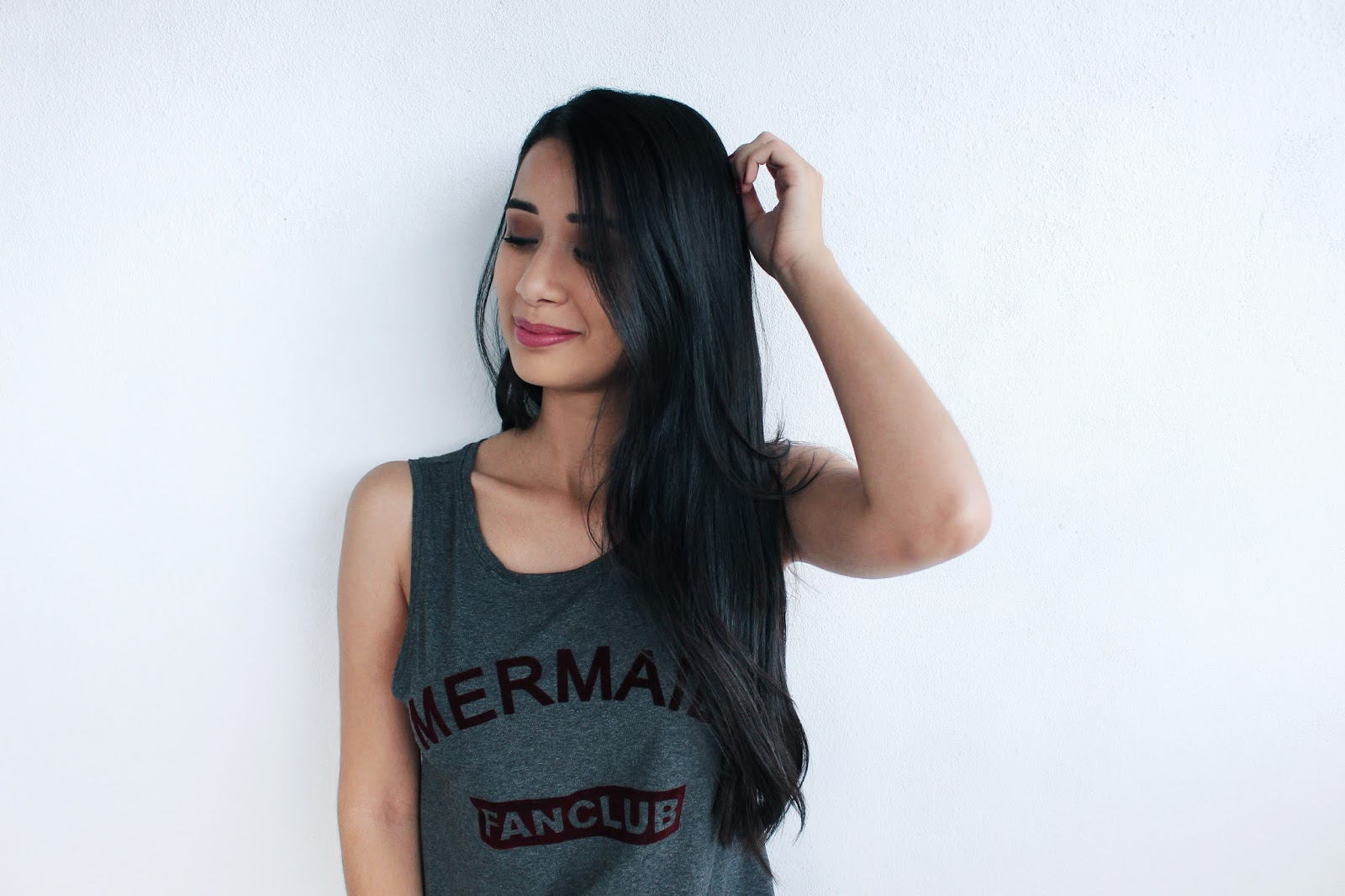 "Look do Dia: Regata ""Mermaid"" + Shorts Jeans"