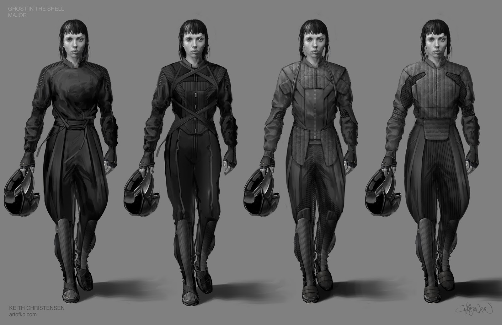 Film Sketchr See What Major Almost Looked Like In Ghost To The Shell Concept Art By Keith Christiansen