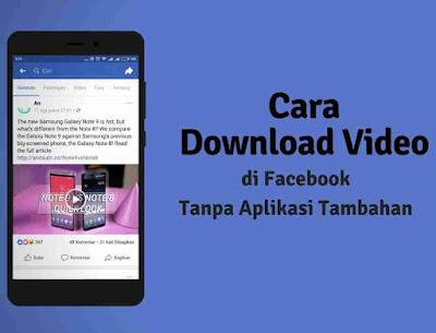 Cara Download Video dari Facebook Lewat Aplikasi Termudah