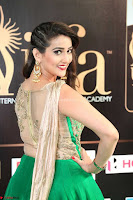 Manjusha in Beautiful Sleeveless Green Anarkali dress at IIFA Utsavam Awards 71.JPG