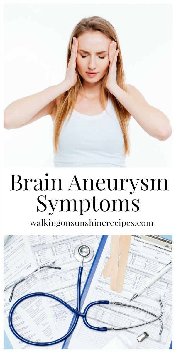Brain Aneurysm Symptoms from Walking on Sunshine