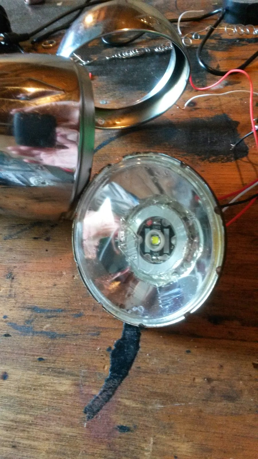 Headlight Switch Construction : The bike shed retro bicycle led headlight construction