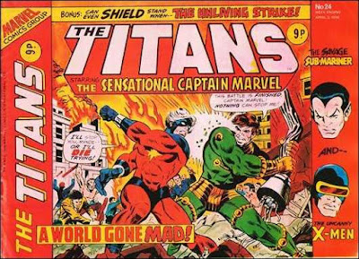 Marvel UK, The Titans #24, Captain Marvel