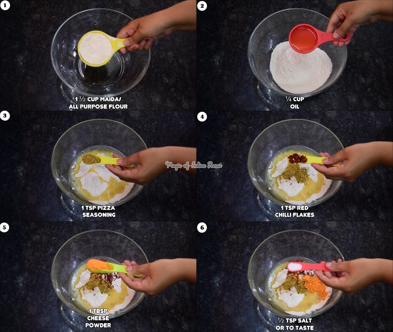 Pizza Mathri Bites Recipe - दीवाली के लिए बना-ये नए तरीके की पिज़्ज़ा मठरी रेसिपी - Priya R - Magic of Indian Rasoi
