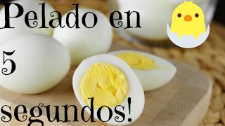 como pelar un huevo cocido,rápido y fácil