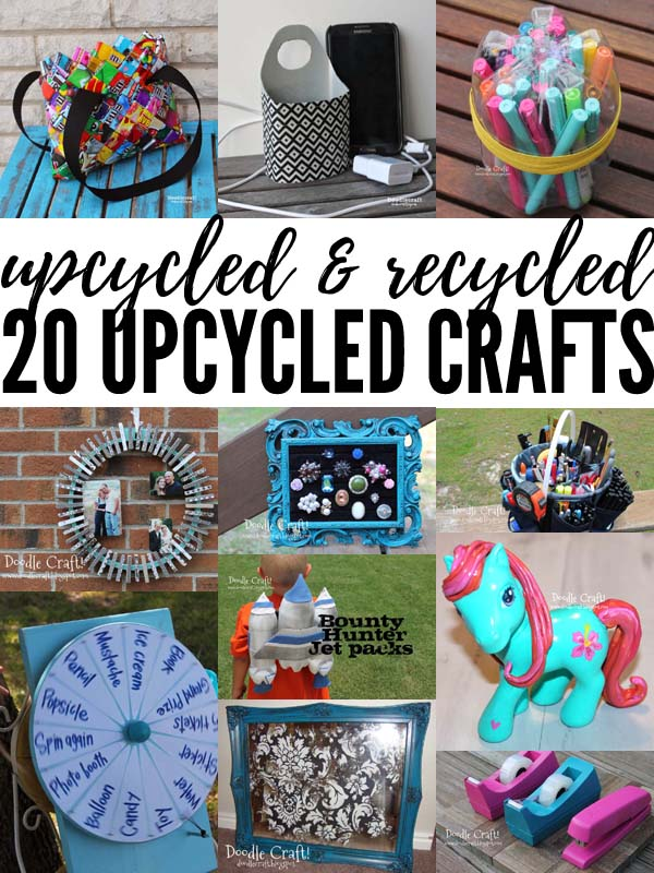 Save the planet on Earth day with this round up of 20 upcycled crafts