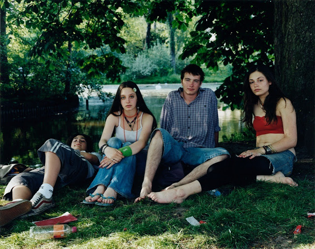 """Vondelpark, Amsterdam the Netherlands"" by Rineke Dijkstra. Chromogenic print, June 10, 2005, youth, teenagers,"