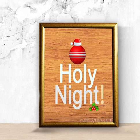 Oh Holy Night, Christmas Wall Frame Decor in Port Harcourt, Nigeria