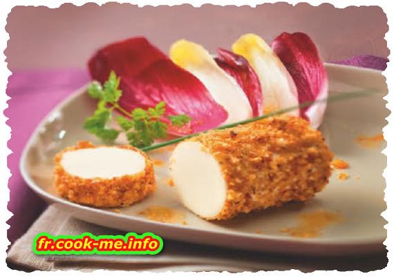 Minibûchette de fromage aux noisettes grillées