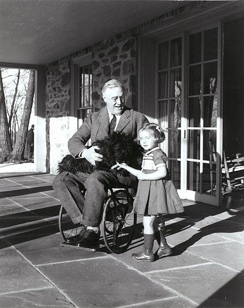 13 February 1941 worldwartwo.filminspector.com Franklin Roosevelt Fala Ruthie Bie
