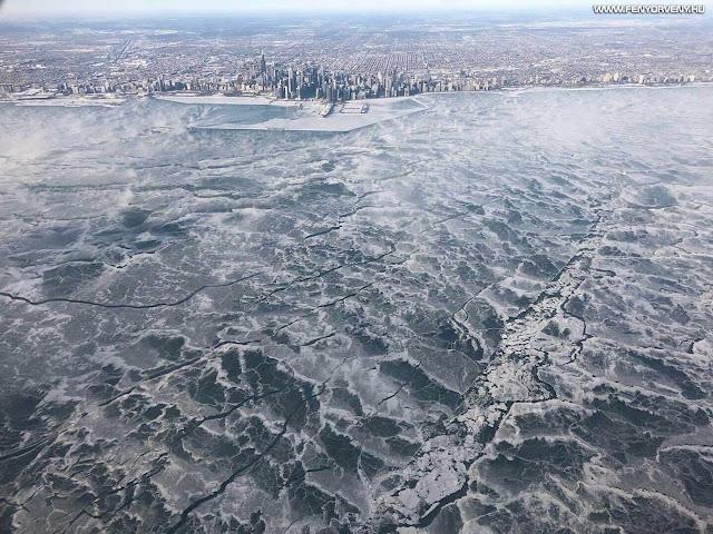 Chicago úgy néz ki, mintha új jégkorszak sújtaná (FOTÓKKAL!)