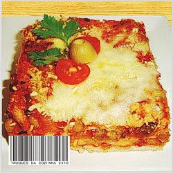 Lasanha de pão de forma com queijo mussarela e parmesão