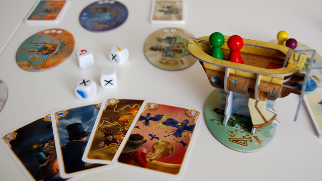 Celestia board game review ship and cards
