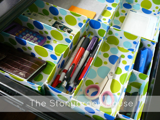 DIY Drawer Organizer from cereal boxes