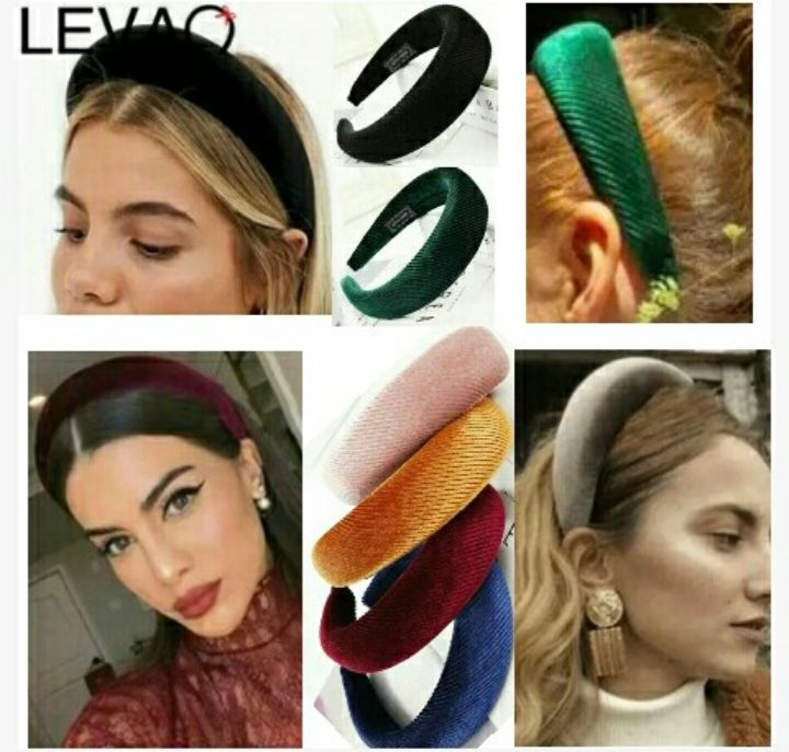 Levao Fashion-Styled Headbands for Women - Padded Solid-Color Head Wears