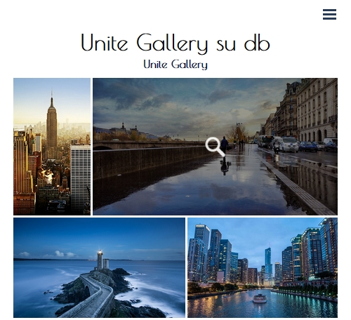 demo unite gallery su db