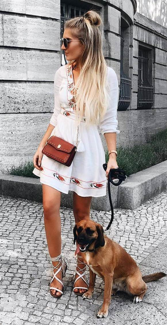 boho style obsession: dress + bag + sandals