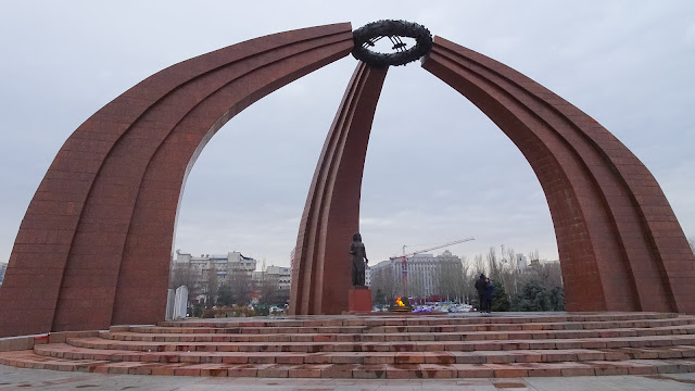 Victory Square Bishkek, one of the best sights to see.