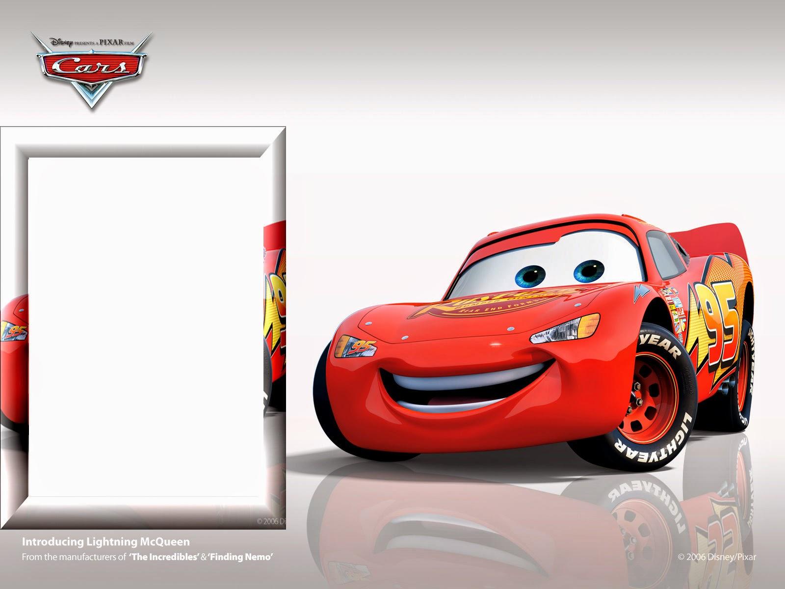 Invitaciones o Marcos para Fotos de Cars para Imprimir Gratis ...
