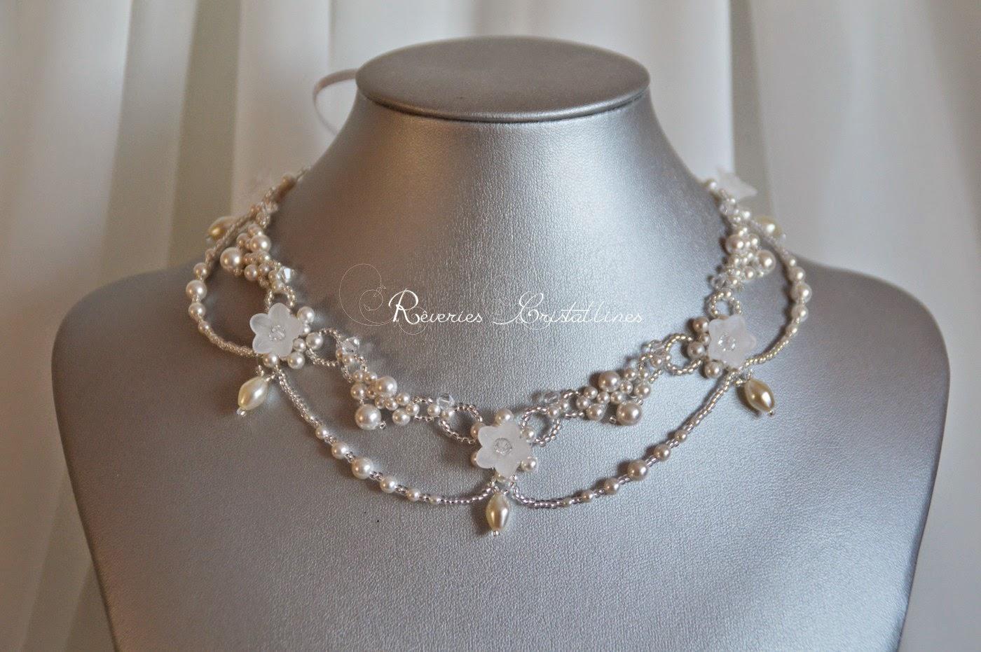 bijoux mariage perles et cristal