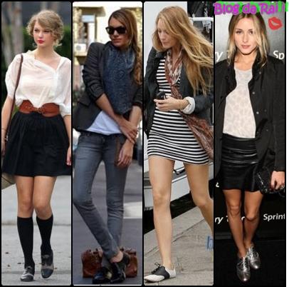 07f9b7676 A tendência absoluta deste inverno será usar sapato oxford com roupas bem  femininas