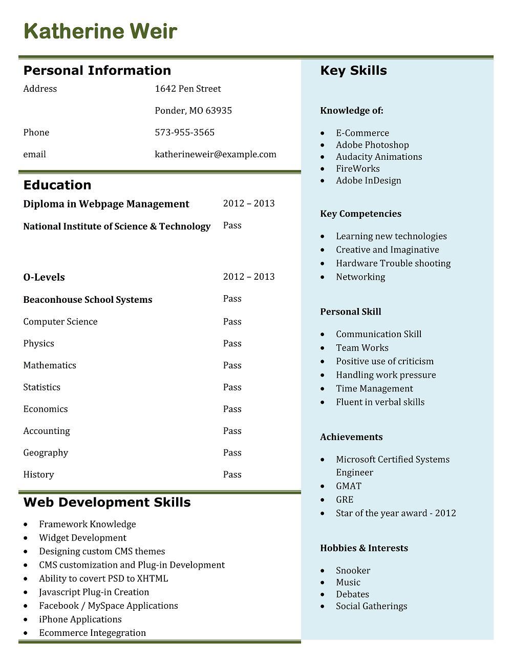 bca fresher resume format resume examples for call center customer