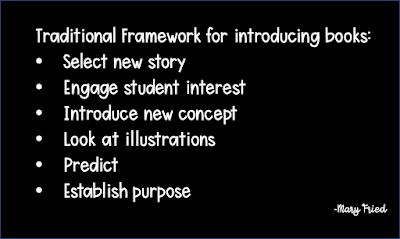 traditional framework to introducing a book