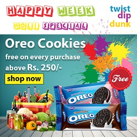 FREE OREO COOKIES on Purchase above Rs.250 @ Bigbasket