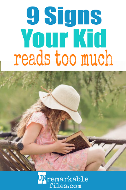 There are regular bookworms, and then there are my kids. My kids definitely read too much, and here are 9 funny reasons I know it for sure. #humor #kids