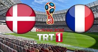 Danimarka - Fransa Canli Maç İzle 26 Haziran 2018