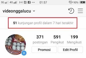 Cara Melihat Berapa Banyak Jumlah Kunjungan Profil Instagram Kita