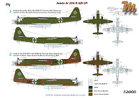 Arado Ar 234 B-2N, 1/32 Fly models 32008, inbox review - decals