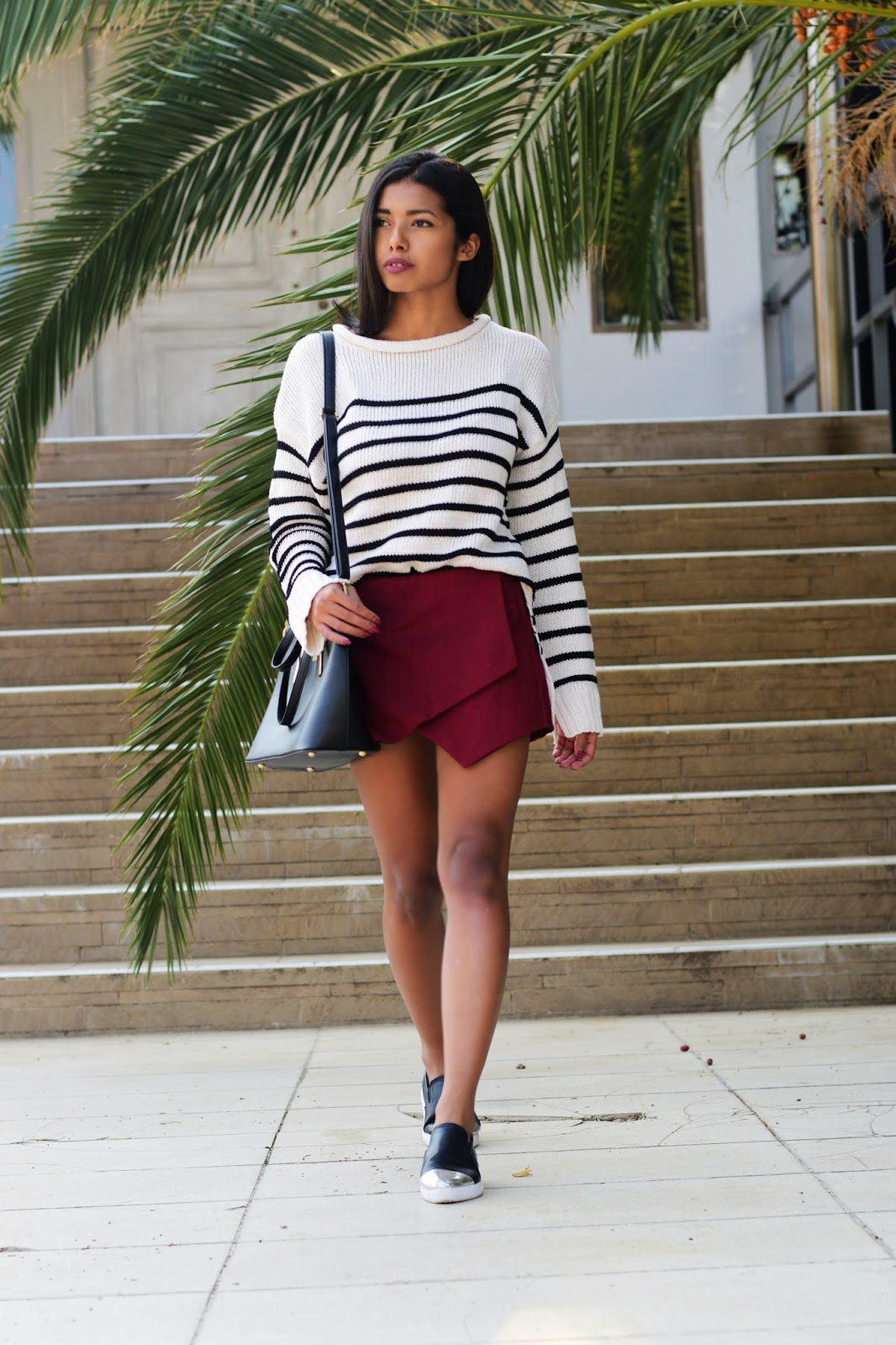 striped sweater casual outfit ideas