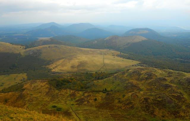 Auvergne, Puy de Dôme, vulkanen, grootste vulkanendichtheid ter wereld, vulkanen in Frankrijk