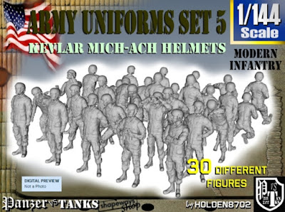 1-144 Army Modern Uniforms Set 5 picture 1