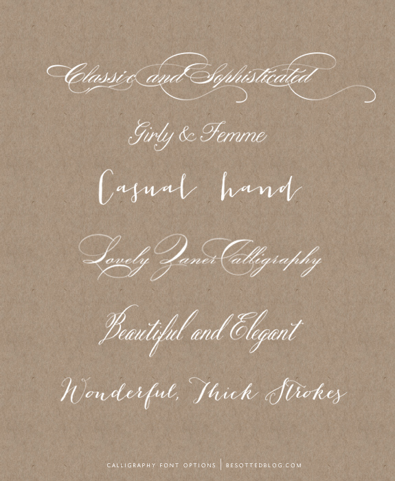 6 REALISTIC CALLIGRAPHY FONTS - Besotted